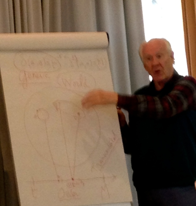 Alain Badiou describing THE EVENT in August 2014, Saas-Fee