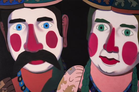 """""""Dichotomy"""", 2015, Soft Pastel on Sandpaper, 38""""×58"""""""
